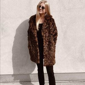 Abercrombie and Fitch XXS Faux Fur Mid Coat NWT